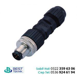 MB08MAAFF03ST 25 M8 Erkek Kablosuz Konnektör